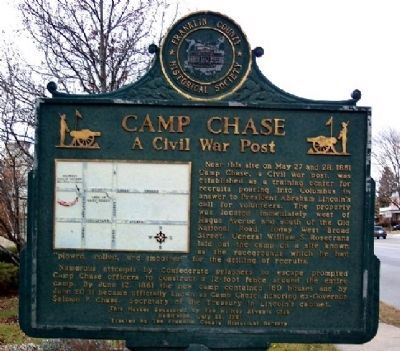 Camp Chase Marker (Side A) image. Click for full size.