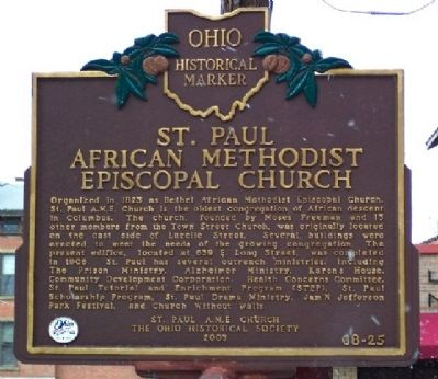 St. Paul African Methodist Episcopal Church Marker image. Click for full size.
