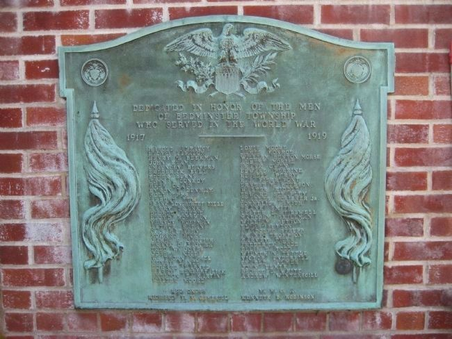 Bedminster War Memorial - WWI Marker image. Click for full size.
