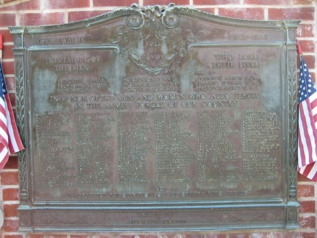 Bedminster War Memorial - WWII Marker image. Click for full size.