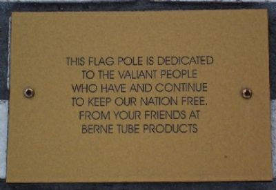 Adams County Veterans Memorial Flag Pole Marker Photo, Click for full size