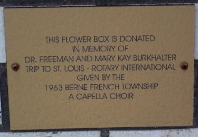 Adams County Veterans Memorial Flower Box Marker Photo, Click for full size