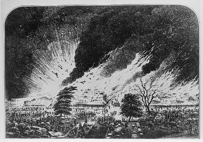 General View of the Sacramento Fire of November 2nd, 1852 image. Click for full size.