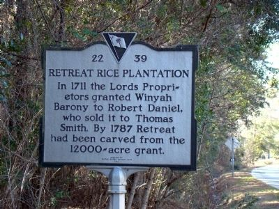 Retreat Rice Plantation Marker image. Click for full size.