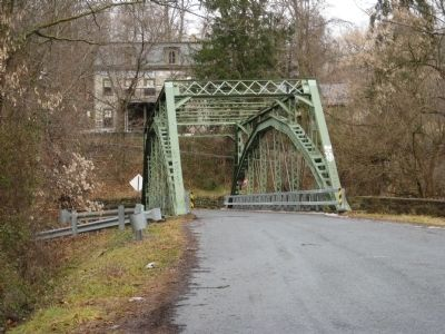 Bridge across Pohatcong Creek leading to Carpentersville image. Click for full size.