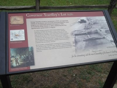 Governor Yeardley's Lot 1620's Marker image. Click for full size.
