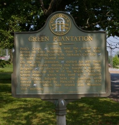 Green Plantation Marker image. Click for full size.