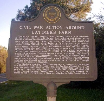 Civil War Action Around Latimer's Farm Marker image. Click for full size.