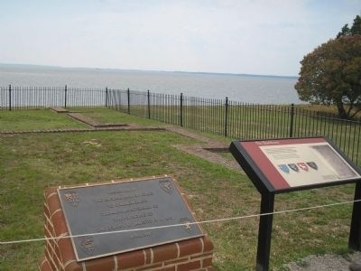 Markers in Historic Jamestown image. Click for full size.
