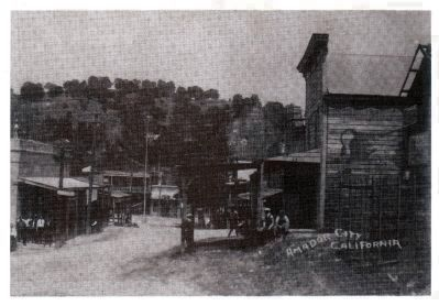 Amador City - Prior to the 1934 Improvements to Hwy 49 image. Click for full size.