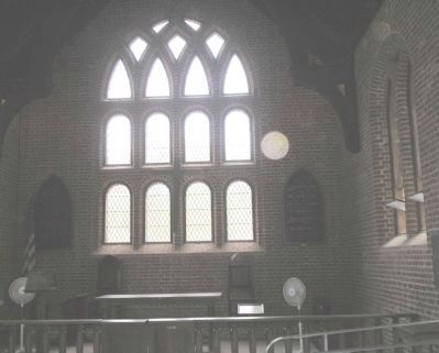 Interior of Jamestown Church Photo, Click for full size