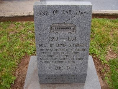 """ End of Car Line "" Marker Photo, Click for full size"
