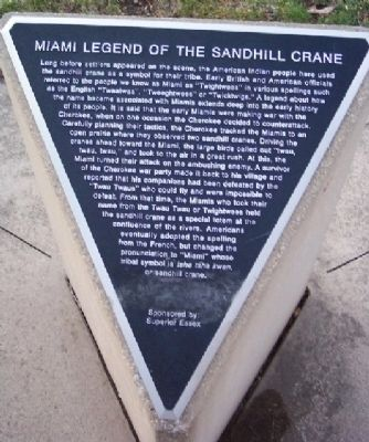 Miamia Legend of Sandhill Crane