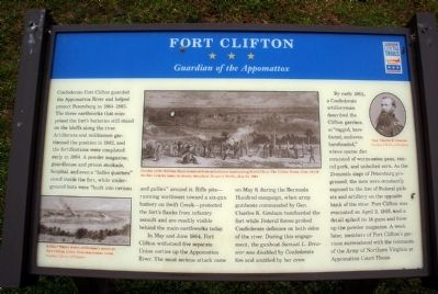Fort Clifton CWT Marker Photo, Click for full size