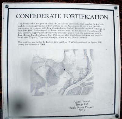 Confederate Fortification Marker image. Click for full size.