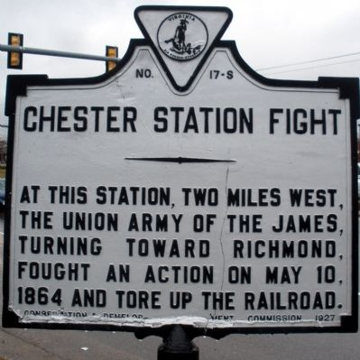 Chester Station Fight Marker Photo, Click for full size