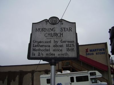Morning Star Church Marker image. Click for full size.