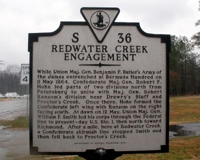 Redwater Creek Engagement Marker Photo, Click for full size