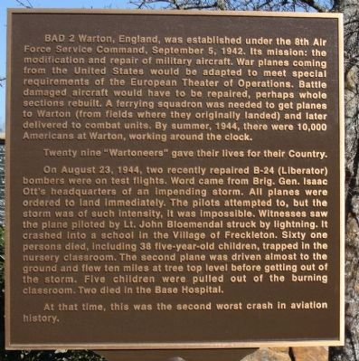 Base Air Depot No. 2 Station 582 USAAF Marker Photo, Click for full size