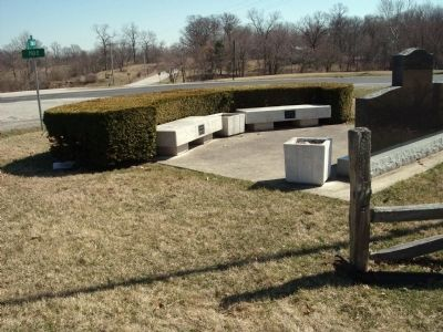 Rear View - Pilot Township (War) Memorial Marker Photo, Click for full size