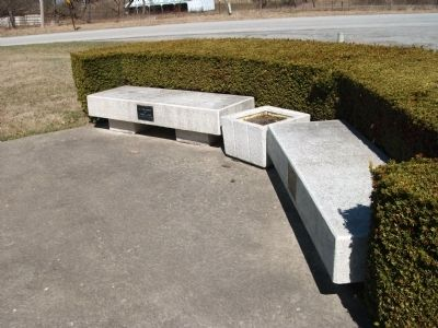 Benches at Pilot Township (War) Memorial Marker Photo, Click for full size