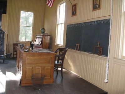 Interior of the Coloma Schoolhouse image. Click for full size.