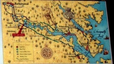 Map of Captain John Smith's Trail image. Click for full size.