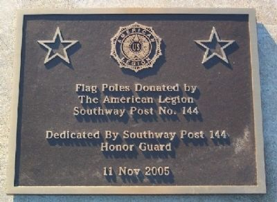 Armed Forces Service Flag Poles Marker Photo, Click for full size
