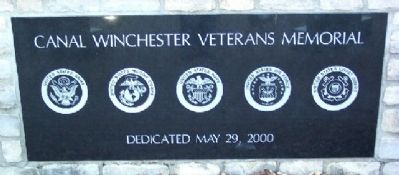 Canal Winchester Veterans Memorial Marker image. Click for full size.