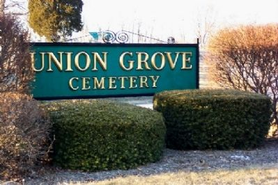 Union Grove Cemetery Sign image. Click for full size.