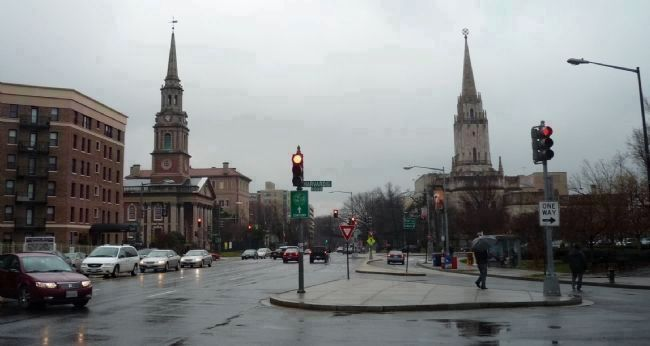 View to the south from the Fashionable 16th Street Marker - across Harvard St. and Columbia Rd. image. Click for full size.