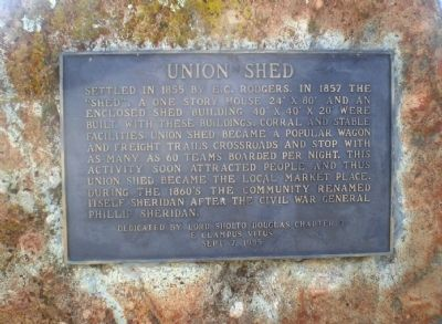 Union Shed Marker image. Click for full size.