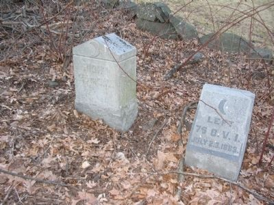 Flank Markers for the 25th and 75th Ohio Photo, Click for full size