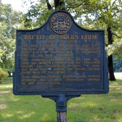 Battle of Kolb's Farm Marker image. Click for full size.