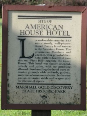 American House Hotel Marker image. Click for full size.