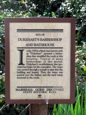 Dukehart's Barbershop and Bathhouse Marker image. Click for full size.