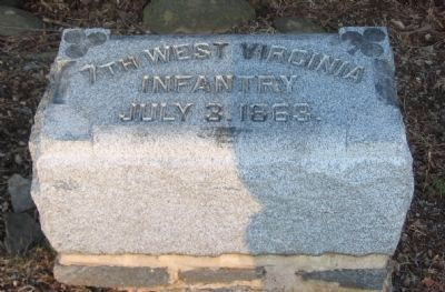 7th West Virginia Infantry Marker Photo, Click for full size