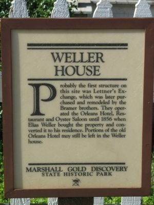 The Weller House Marker image. Click for full size.