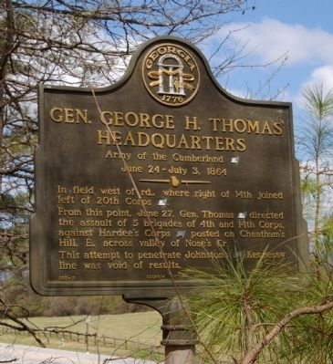 Gen. George H. Thomas' Headquarters Marker image. Click for full size.