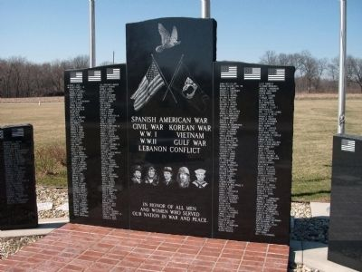 Potomac (Illinois) War Memorial Marker image. Click for full size.