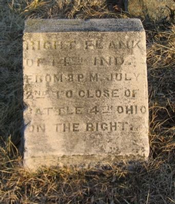 Right Flank Marker Stone Photo, Click for full size
