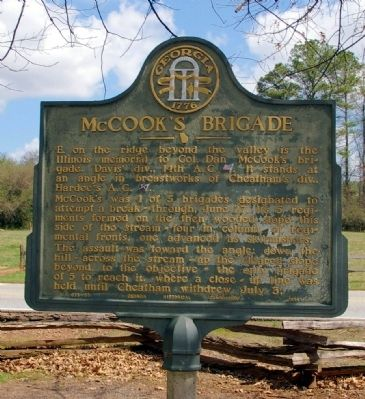 McCook's Brigade Marker Photo, Click for full size