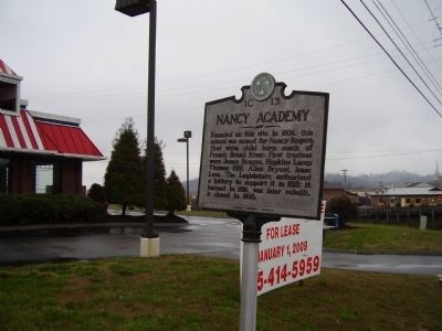 Nancy Academy Marker Photo, Click for full size