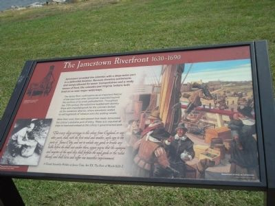 The Jamestown Riverfront Marker image. Click for full size.