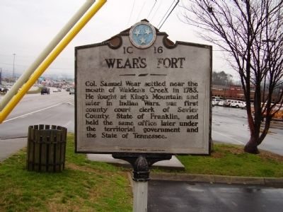 Wear's Fort Marker Photo, Click for full size