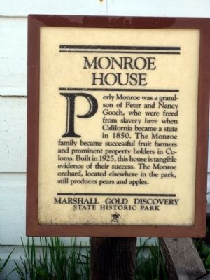 Monroe House Marker image. Click for full size.