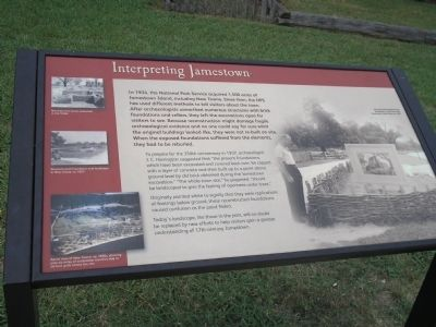 Interpreting Jamestown Marker Photo, Click for full size