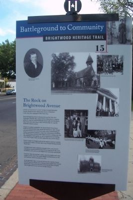 The Rock on Brightwood Avenue Marker image. Click for full size.