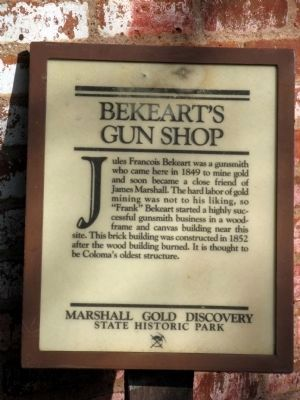 Bekeart's Gun Shop Marker image. Click for full size.
