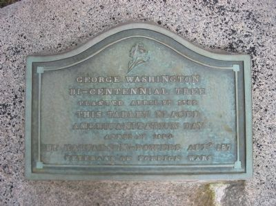 George Washington Bi-Centennial Tree Marker image. Click for full size.